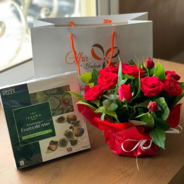 chocolat fruit de mer et fleurs