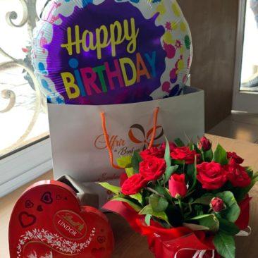 chocolat lindor et fleurs