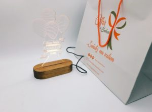 Cadeau personnalisé de lampe 3D d'illusion Ballon anniversaire