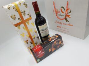 Coffret Happy zen (vin et chocolat)