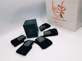 Chaussettes Semainier x 5 - 100% fil d'Ecosse - noir