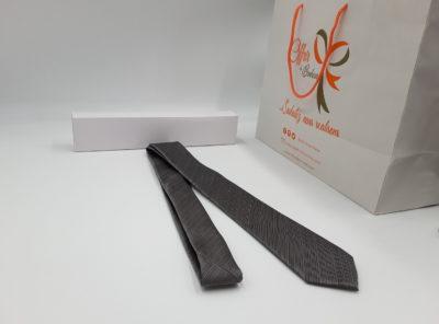 Cravate motif faux uni (tu / gris)