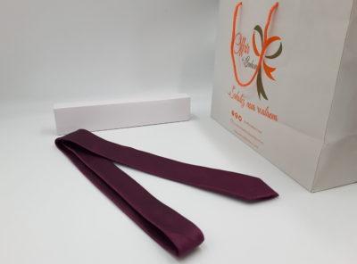 Cravate motif faux uni (tu / violet)
