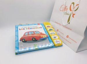 Mon livre sonore les véhicules +18mois