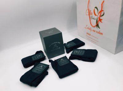Chaussettes Semainier gris 100 % fil d'Ecosse