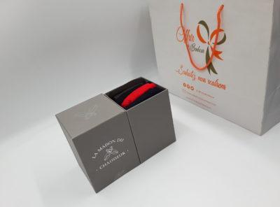 Chaussettes Semainier multi-couleurs 100 % fil d'Ecosse