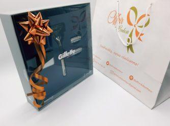 Gillette Mach3 Limited Edition Rasoir pour Homme + 2 Recharges + 1 Socle