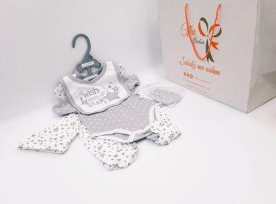 5 pcs ensemble bébé - Étoiles