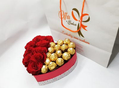 Des roses aux chocolats